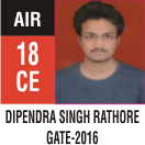Peeyush Kr. Shrivastav, GATE 2016, RANK 18A